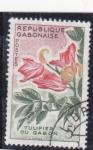 Stamps : Africa : Gabon :  F L O R E S- TULIPÁN DE GABÓN