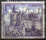 Sellos de Europa - España -  ESPAÑA 1964 1546 Sello Serie Turistica Paisajes y Monumentos Alcazar de Segovia usado