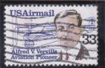 Sellos de America - Estados Unidos -  PIONERO DE LA AVIACIÓN- ALFRED V.VERVILLE