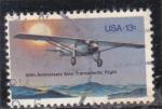 Stamps United States -  50 ANIVERSARIO VUELO TRANSATLANTICO EN SOLITARIO