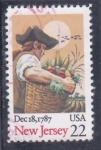 Stamps United States -  NEW JERSEY