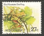 Stamps of the world : Australia :  Blue Mountains Tree Frog