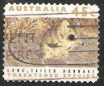 Sellos de Oceania - Australia -  Long Tailed Dunnart