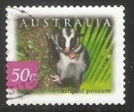 Sellos de Oceania - Australia -  Striped possum