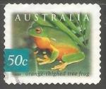 sellos de Oceania - Australia -  Orange thighed tree frog