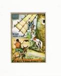 Stamps Africa - Equatorial Guinea -  DON QUIJOTE EMBISTIENDO A UN GIGANTE