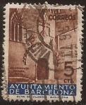 Stamps Spain -  Porta gótica. Ajuntament de Barcelna  1936  5 cts
