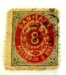 Sellos de Europa - Dinamarca -  postfrim 8