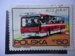 Sellos de Europa - Polonia -  Autobús Jelcz-Berliet PR100.