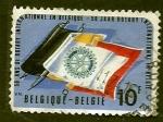 Sellos de Europa - Bélgica -  50 aniver. rotary intern.