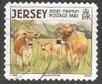 Sellos de Europa - Reino Unido -  Jersey Cow