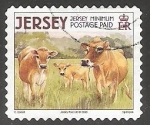 Stamps United Kingdom -  Jersey Cow