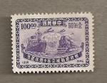 Stamps Asia - China -  Tren y Barco