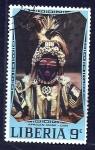 Sellos del Mundo : Africa : Liberia :  mascara dan