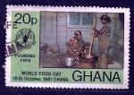 sellos de Africa - Ghana -  dia del pounding (FAO)