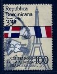 Sellos de America - Rep Dominicana -  centenario aliansa fransesa