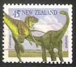 Sellos de Oceania - Nueva Zelanda -  Tyrannosaurus, Apatosaurus