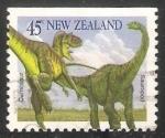 Sellos del Mundo : Oceania : Nueva_Zelanda : Tyrannosaurus, Apatosaurus