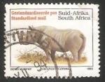 Sellos del Mundo : Africa : Sudáfrica : Black Rhinoceros