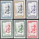 Stamps : Africa : Morocco :  13 a 18 - Mohamed V