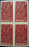 Sellos de Europa - Mónaco -  bloque de sello de correos MNH