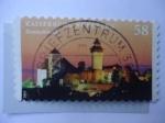 Stamps Germany -  Kaiserburg Nurnberg.