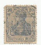 Sellos del Mundo : Europa : Alemania : deutsches reich 20 ct stamp