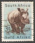 Sellos de Africa - Sudáfrica -  White Rhinoceros