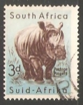 Stamps South Africa -  White Rhinoceros