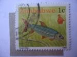 Stamps : Africa : Zimbabwe :  Tiger Fish.