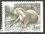 Stamps Sweden -  Utter Lutra Lutra