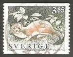 Sellos de Europa - Suecia -  Stoat (Mustela erminea)