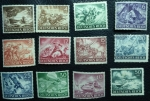 Stamps Germany -  1943 serie completa
