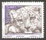 Sellos de Europa - Suecia -  Snow Leopard (Panthera uncia)