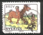 Sellos de Europa - Suecia -  Ýear of the Horse