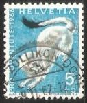 Stamps Switzerland -  Stoat (Mustela erminea)