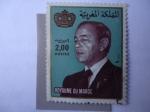 Stamps : Africa : Morocco :  rey de Marruecos-Hassan II - Royaume du Marrueco.