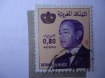 Stamps : Africa : Morocco :  Hassan II - rey de Marruecos.