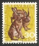Sellos del Mundo : Europa : Suiza : European Hare (Lepus europaeus)