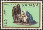 Stamps Spain -  Navidad. Congreso Internacional de Belenistas  1976 3 ptas