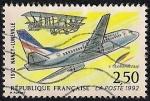 Stamps France -  80º aniversario del 1er  correo aéreo, Nancy-Lunéville.