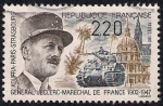 Sellos de Europa - Francia -  40 º Aniversario de la muerte del General Leclerc, el mariscal de campo de Francia (1902-1947).