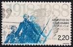 Stamps France -  70º Aniversario del Armisticio del 11 de Novembeer de 1918.