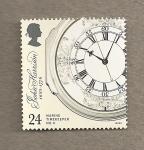 Stamps United Kingdom -  300 AnivJohn Harrison, inventor cronómetro