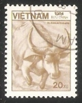 Stamps Vietnam -  Bubalus bubatis