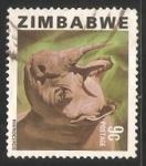 Sellos del Mundo : Africa : Zimbabwe : Rhinoceros