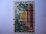 Sellos de America - Estados Unidos -  Conserbación Forestal