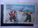 Sellos de Europa - Francia -  Bonne Année-Buen año.