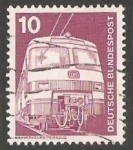 Stamps Germany -  Nahverkehrs triebzug - Tren Alemán