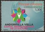 Sellos de Europa - Andorra -  Andorra La Vella. Capital Iberoamericana de la Cultura  2016 1,30 €